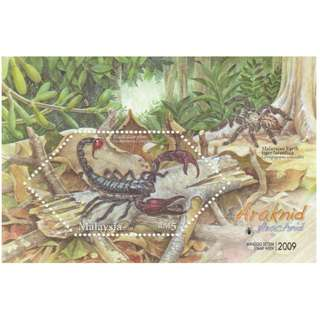 Malaysia 2009 Stamp Week - Arachnids (Black Scorpion) MS Mint MNH SG #MS1625