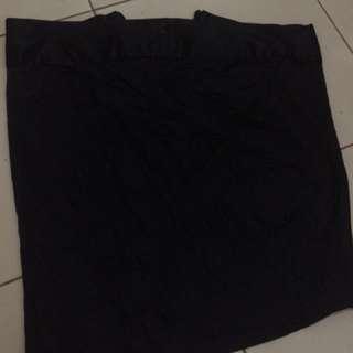 branded black skirt
