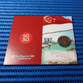 2015 Singapore 50 Years of Independence SG50 $5 Commemorative Coin