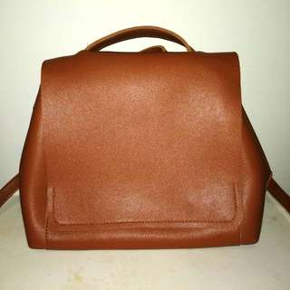 Brown Leather Bag Backpack Satchel