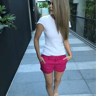 Tommy Hilfiger, bright pink shorts