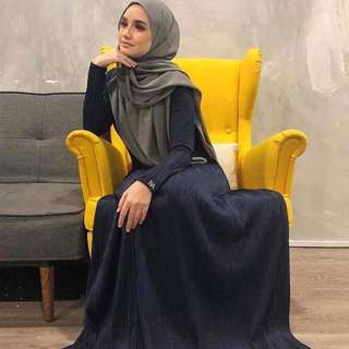 Bella ammara open order for sophia jubah releasing 17 feb and mailing out 19 feb monday (deep blue)
