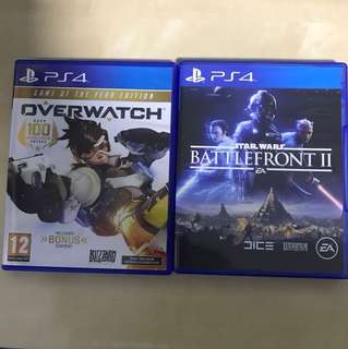 PS4 GAMES (Overwatch And Star Wars Battlefront II)