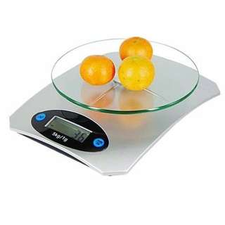 5Kg Digital Weighing Scale LCD Electronic Glass Kitchen 5KG/1G