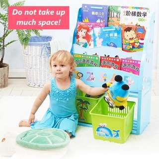 Cartoon Books and Toy storage rack container #Huat50Sale