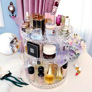 (SALE) 360 rotating makeup organizer cosmetic holder storage *INSTOCK #Huat50Sale*