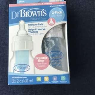 Dr Brown's Preemie Flow bottle BRAND NEW
