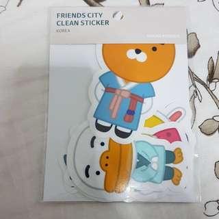 Kakao Friends city clean sticker
