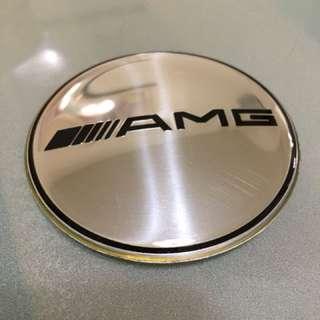賓士 Benz  銀色 鏡面 AMG鋁圈 輪圈中心蓋貼紙 標誌 貼標65MM c320 c200 c250 c300 w203