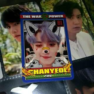WTT/TRADE EXO The War Repackage photocard Chanyeol to Baekhyun