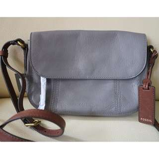 Fossil Molly Flap Crossbody Grey
