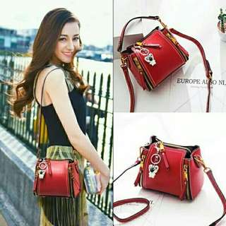 BAG SATCHEL MERAH