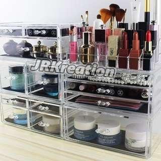 #Huat50Sale Acrylic Cosmetic Drawer Organizer