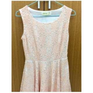 降價❗️ blooming粉色花朵無袖小洋裝