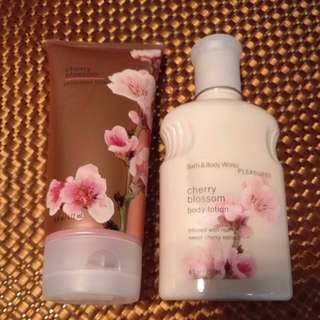 (New) Bath & Body Works Pleasure Cherry Blossom Shimmer Lotion And Body Lotion