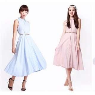 Afa blue midi dress