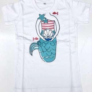Cotton T-shirt Mermaid (girls)