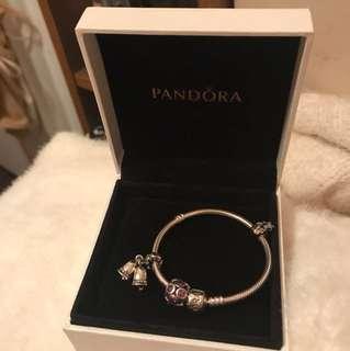 Pandora手鍊 連串飾x3