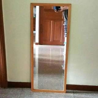 🍊💞CNY 50%TIME SALE!! 🐶 ROASTED BROWN WOODEN FRAME MIRROR FOR SALE!! A BLACK STAIN IN LAST PIC,  NOT FOR FUSSY BUYER!!! ONLY 1!! HURRY WHILE STOCK LAST!!  GRAB BEFORE ITS GONE!!! HURRY!!
