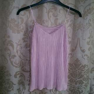 Pleated Shimmery String Cami