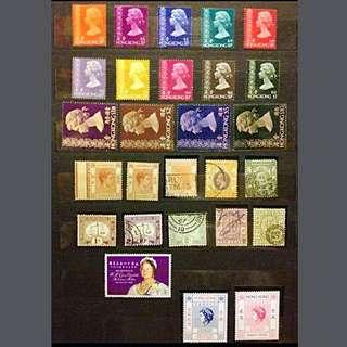 香港 女皇時代 郵票 (全圖售)