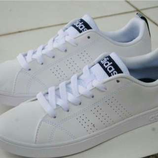 Adidas neo advantage clean white navy original