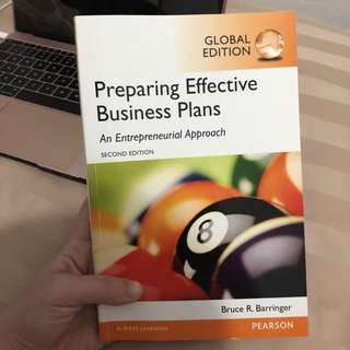 PREPARING EFFECTIVE BUSINESS PLANS TEXTBOOK GLOBAL EDITION
