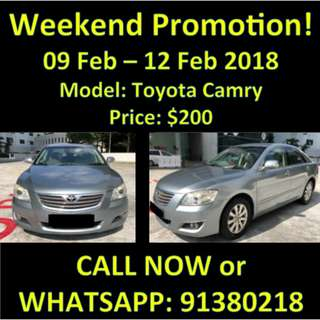 Toyota Camry 9-12 Feb OFFER/SALE WEEKEND