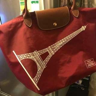 Longchamp 巴黎鐵塔特別版長柄M Size