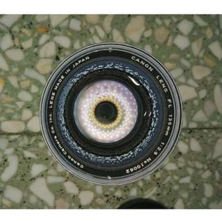 Canon lens FL 135mm 1:2.5 (Made in Japan)
