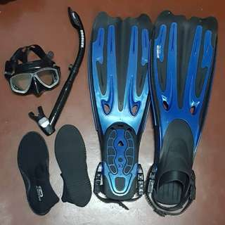 PRELOVED DIVING GEAR SET