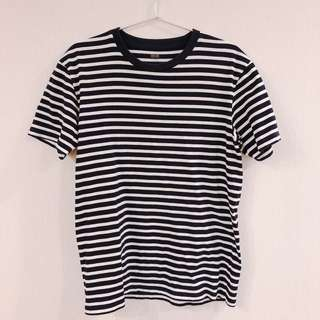 Uniqlo水洗條紋上衣(男款)