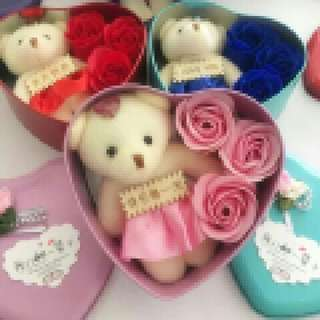 Flower Soap With Bear