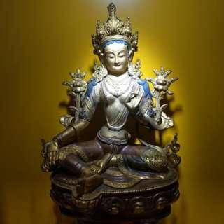 Tibetan Green Tara statue 绿度母像