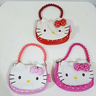 Pre-owned 3 pieces of Hello Kitty Handbags for kids