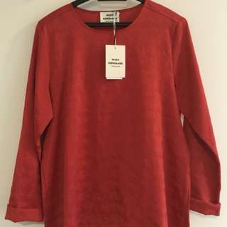 Silk blouse tops Copenhagen brand