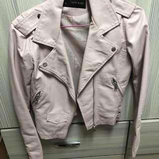 粉紅s號皮衣(蝦皮售