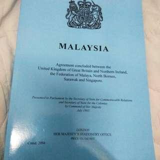 Malaysia Agreement 1963