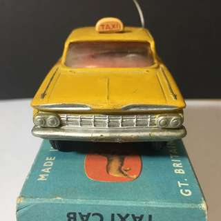1960s Corgi toys Chevrolet New York taxi cab