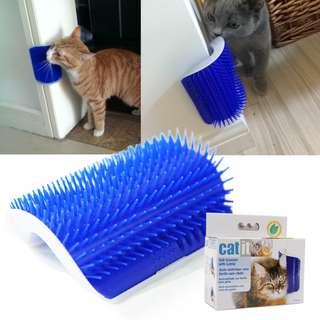 Catit Self Groomer Brush with Catnip / Massager / Wall / sofa Corner / Cat / Kitten