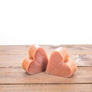 Natural honey soap - heart shape