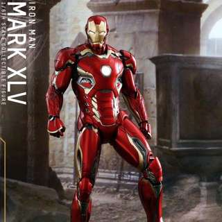 全新未開 Hot Toys MARVEL 1:6 Ironman Mark XLV合金珍藏人偶