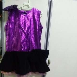 BABY CLOTHES UNIFABRIC GIRL SHINING DANCING BALLET  DRESS FOR 5-7YEARS.