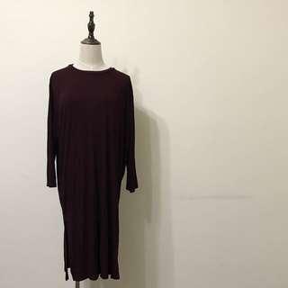 🚚 櫻桃紅長版洋裝