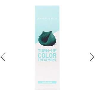 April Skin Turn Up Color Treatment - Mermaid Green Blue Semi Perm Hair Dye