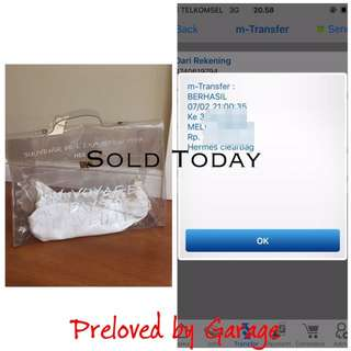 SOLD HERMES CLEAR