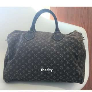 AUTHENTIC LOUIS VUITTON (LV) SPEEDY 30 , IN MINI LIN MONOGRAM CANVAS