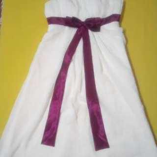 Spaghetti strap gown