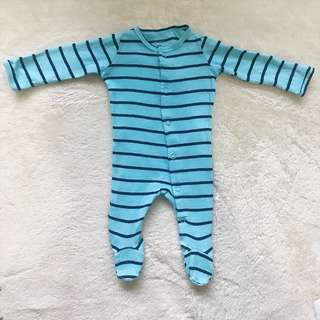 CARTER'S Sky Blue Stripes Snap-Up Sleep & Play