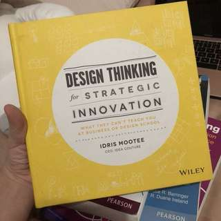 DESIGN THINKING FOR STRATEGIC INNOVATION TEXTBOOK WILEY